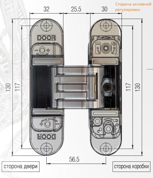 Петли скрытой установки Krona Koblenz KUBICA K6300